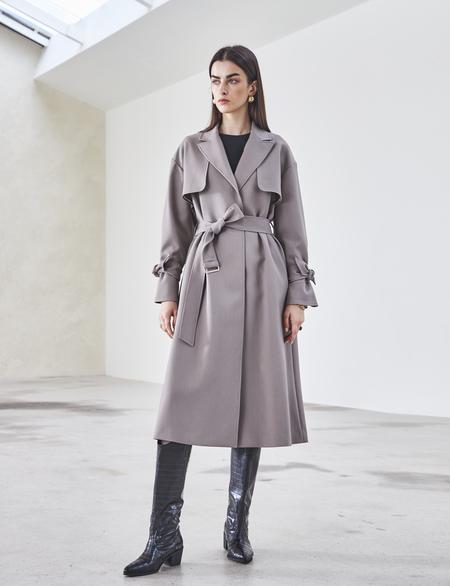 Maison De Ines RAYON TRENCH COAT - gray