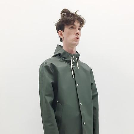 Stutterheim Stockholm Raincoat in Green