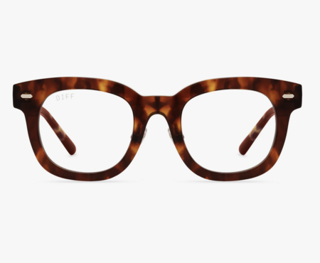 Unisex DIFF Summer Bluelight Frames Sunglasses - Amber