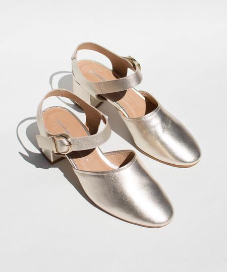 Intentionally Blank Gold Crystal Heel