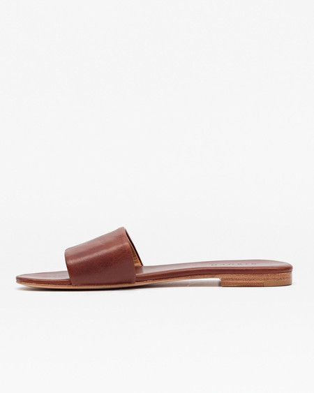 Nisolo Isla Slide Sandal Cognac 5 for 5