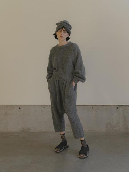 Atelier Delphine Alpaca Balloon Sleeve Sweater - Charcoal