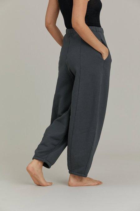 Black Crane Wide Pants - Asphalt