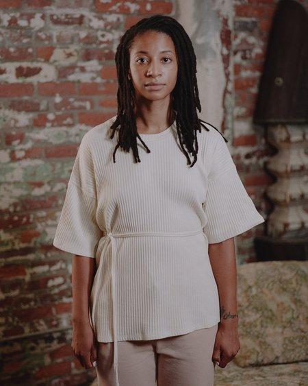 Baserange shirt 100% Organic Cotton  Shaw Tee - Off-white