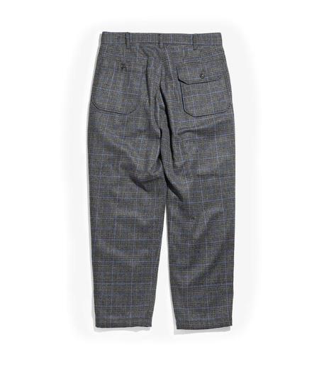 Engineered Garments Carlyle Pant - Dk Grey/Blue Poly Wool Glen Plaid