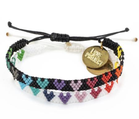 Love Project Love is Love Bracelet - Black/White