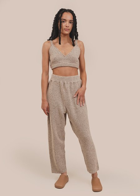 Monica Cordera Soft Wool Pants - beige