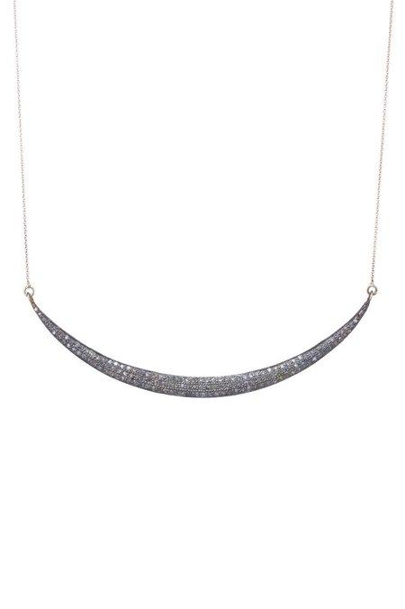 KES LERA Jewels Large Smile Necklace - silver/14k gold