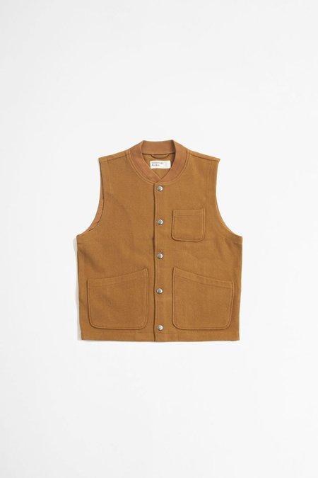 Universal Works Chore mowbray waistcoat - caramel