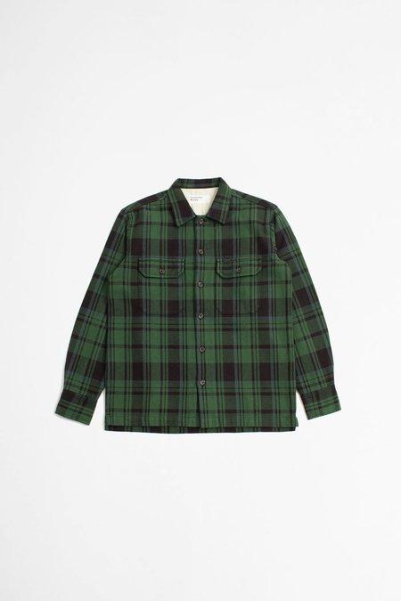 Universal Works Utility Shirt - Heavy Check Green