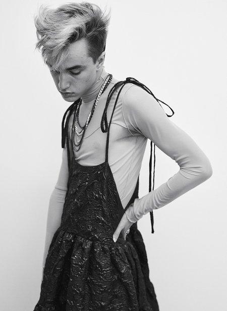 Eliza Faulkner Jacquard Cece Dress - Black