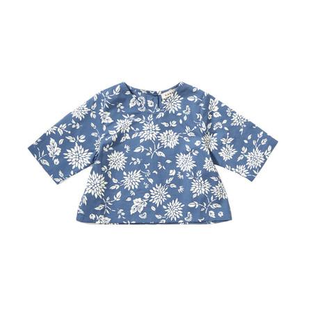 Kids Caramel Shallot Baby Top - Cornflower Blue Kimono