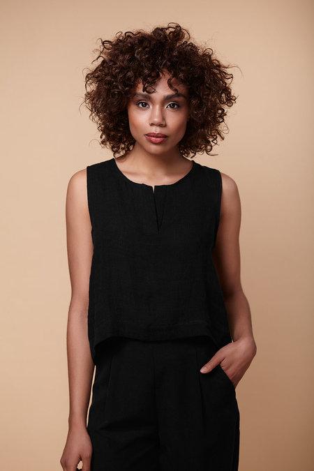 Amanda Moss 'Mayfair' top - black
