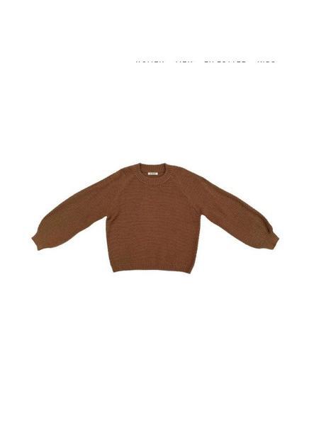 Ali Golden Rice Stitch Sweater