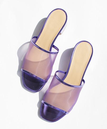 Maryam Nassir Zadeh Metallic Violet Sophie Mesh Slide