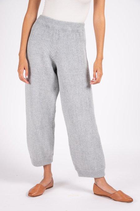 Baserange Tauro Eco Wool Knit Pants - Light Grey