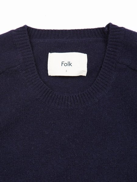 Folk Patrice Crew Knit sweater - Navy