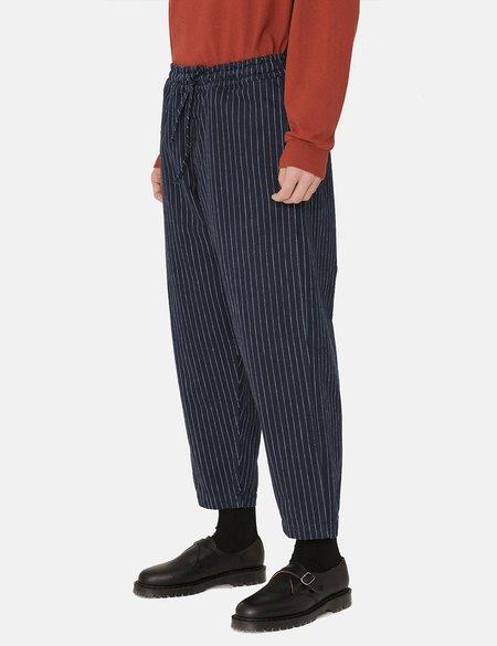 YMC Alva Skate Pinstripe Pant - Navy Blue
