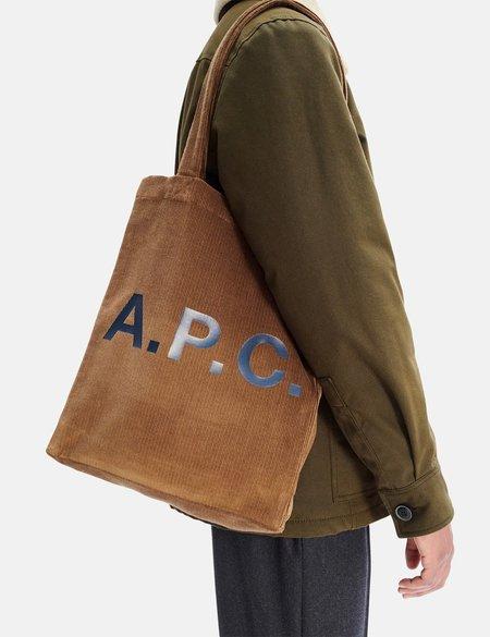 A.P.C. Lou Tote Bag - Brown