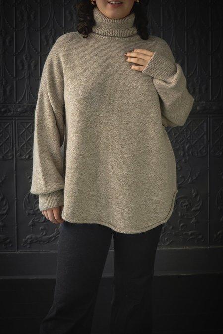 Lauren Manoogian Dovetail Turtleneck Sweater - marl