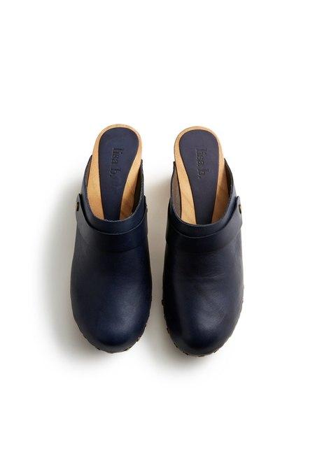 Lisa B. High Heel Clogs - Navy