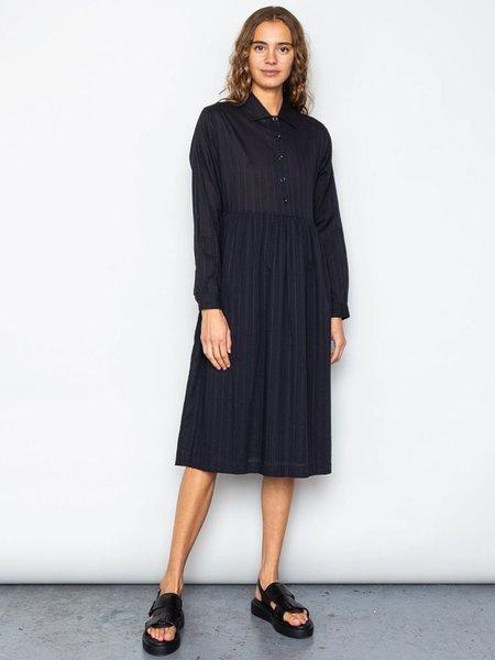 Folk Clothing Loom Dress - Black/Navy