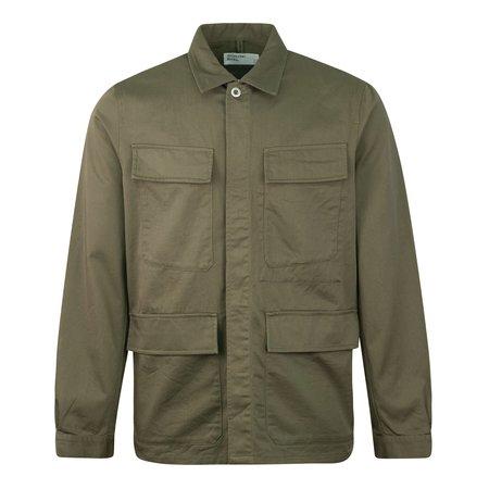 Universal Works MW Fatigue Cotton Twill Overshirt - Olive