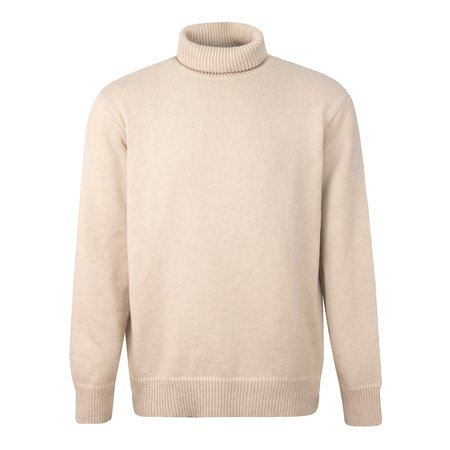 Universal Works Recycled Wool Roll Neck Jumper - Off White