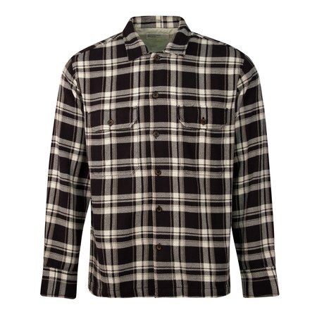 Universal Works Utility Check Shirt - Brown
