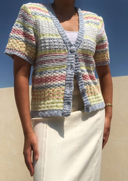 W A N T S Padded Shoulder Knit Cardigan - Multicolor
