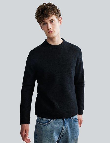 NN07 Boiled Merino Crewneck Sweater - Black