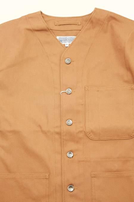 Engineered Garments 10oz Duck Canvas Workaday Engineer Jacket - Camel