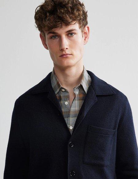 NN07 Miyagi Wool Overshirt 6394 - Navy Blue