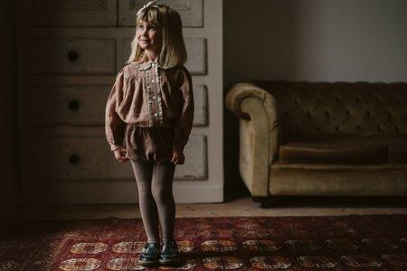 Kids Little Cotton Clothes Eleanor Linen Blouse - Mallow