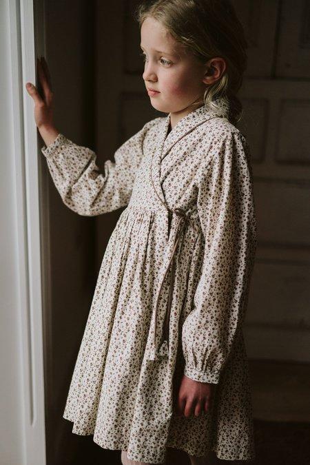 Kids Little Cotton Clothes Rosalind Wrap Dress - Woodland Floral