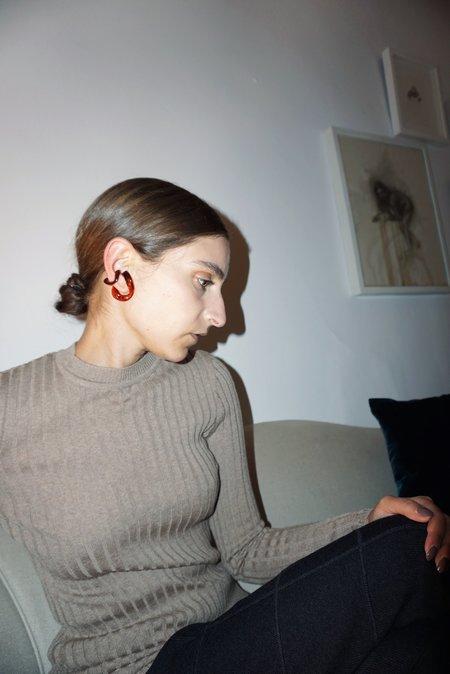 BEATRIZ PALACIOS SMALL LUCITE EAR CUFF