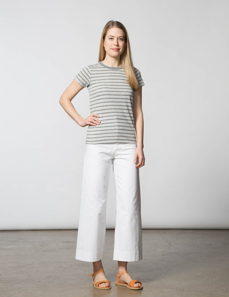 SBJ Austin Crewneck Tee - Grey Stripe