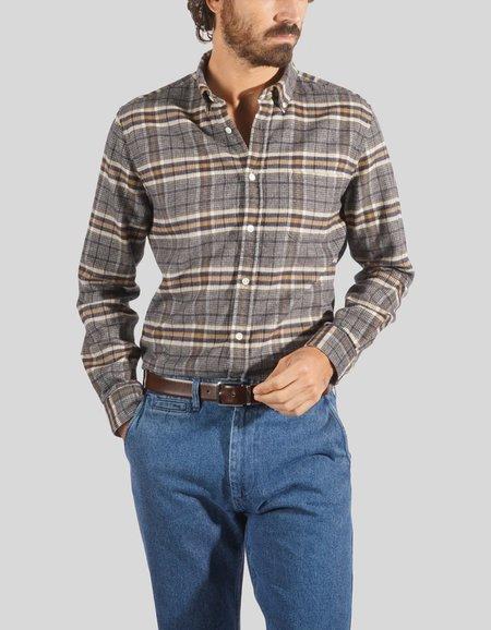 Portuguese Flannel Bibliotec Shirt - Grey/Navy
