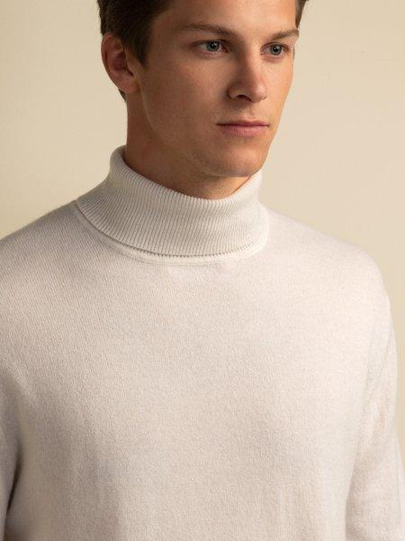 PURECASHMERE NYC Men Turtleneck Sweater - Vintage White