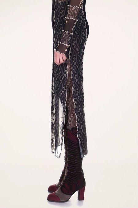 Anna Sui Posies Mesh Leggings - Purple Multi