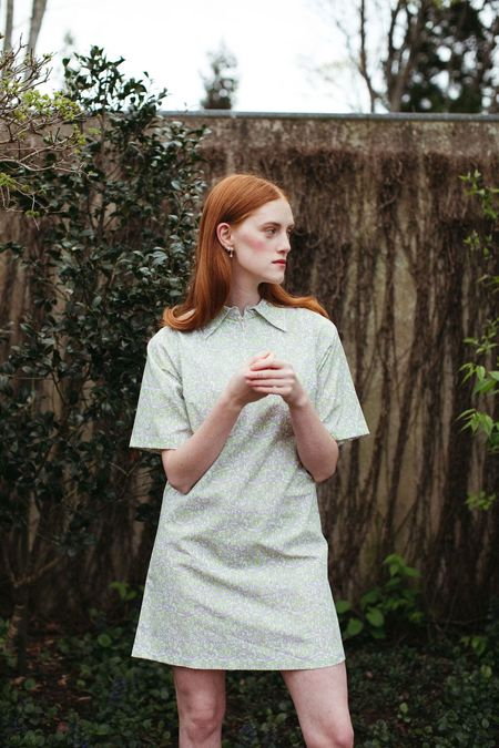Mane Project Gratify Shift Dress - Flower Patch Hypno Beige