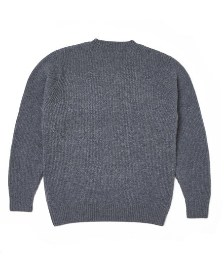 Country of Origin Ribbed Crew - Mix Grey