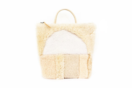 Primecut Sheepskin Backpack Patchwork Sunset