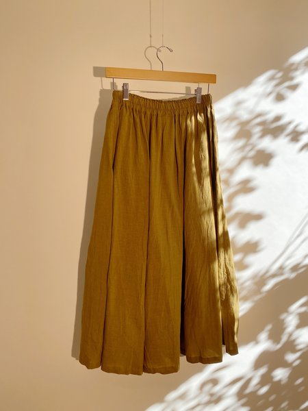 ICHI ANTIQUITES Color Linen Skirt