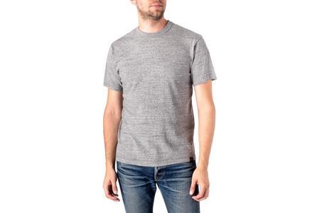 Iron Heart 6.5oz Loopwheel Crew Neck With Longer Body T-Shirt - Grey
