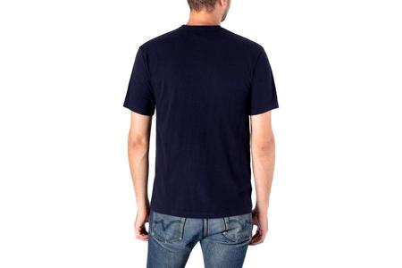 Iron Heart 6.5oz Loopwheel Crew Neck Longer Body T-Shirt - Navy
