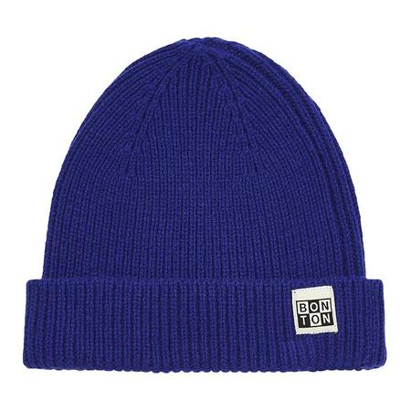 Kids Bonton Child Knit Hat - Ink Stain Blue