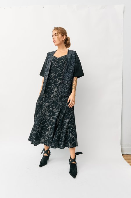 Rag & Bone Black Printed Maxi Dress