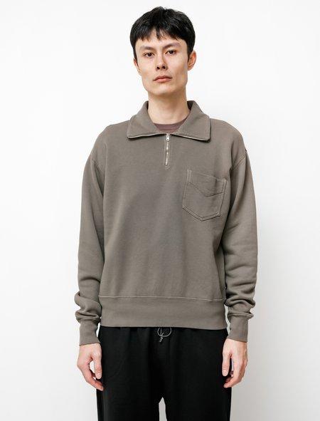 Lady White Co. 1/4 Zip Pocket Sweatshirt - Deep Cement