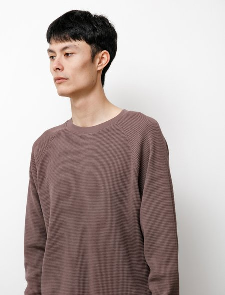 Lady White Co. Cropped Raglan Thermal Roasted Tee - Plum